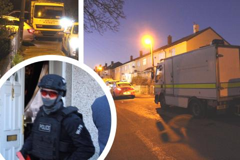 Police still at Penhill house attended  by army bomb squad last night
