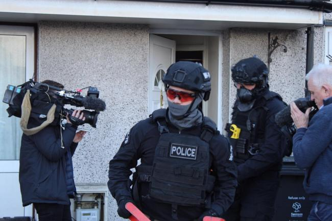 Police raided homes across Swindon last week as part of an operation to tackle drug dealing in the town
