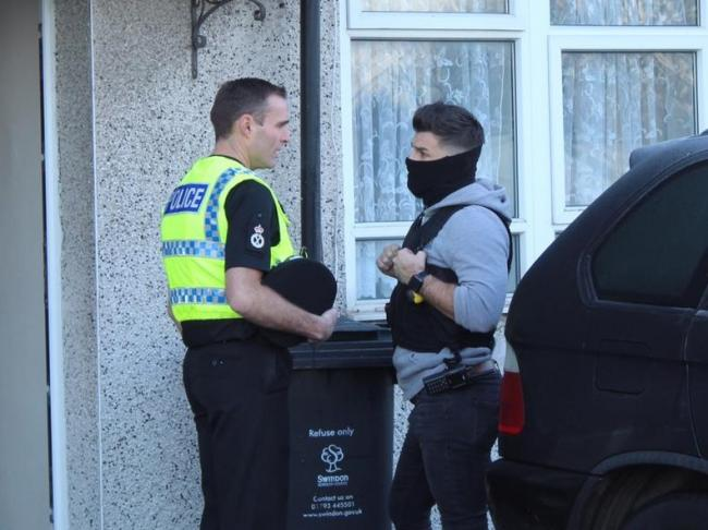 Chief constable Kier Pritchard (left) during Monday's Operation Samphire drugs raids