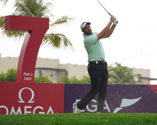 David Howell (ENG) during Round 1 of the Dubai Desert Classic, Majlis Golf Course , Dubai, 23/01/2020.Picture Andy Crook...