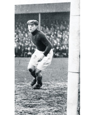 Sam Burton in goal for Swindon Town