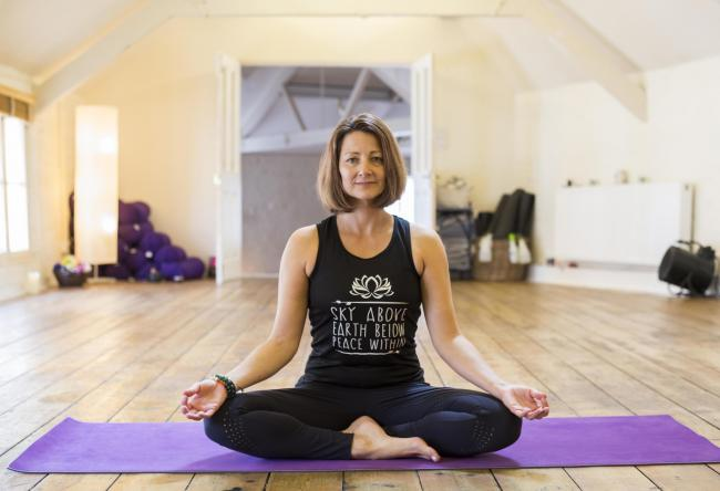 Jill Hoon is a teacher for Uptown Yoga