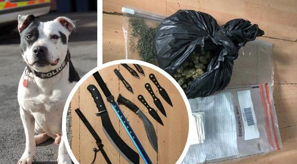 Drugs, cash and weapons were seized in a raid in Royal Wootton Bassett Picture: FACEBOOK