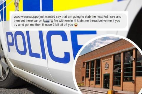 Swindon Advertiser: The Facebook message Nicholas Bray sent to Swindon North Police