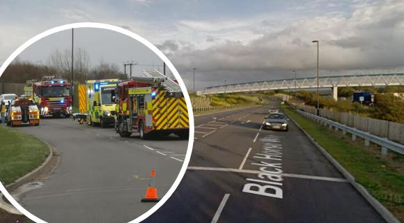 The scene of the crash on Blackhorse Way, East Wichel Pictures: MARK HOWELL/GOOGLE