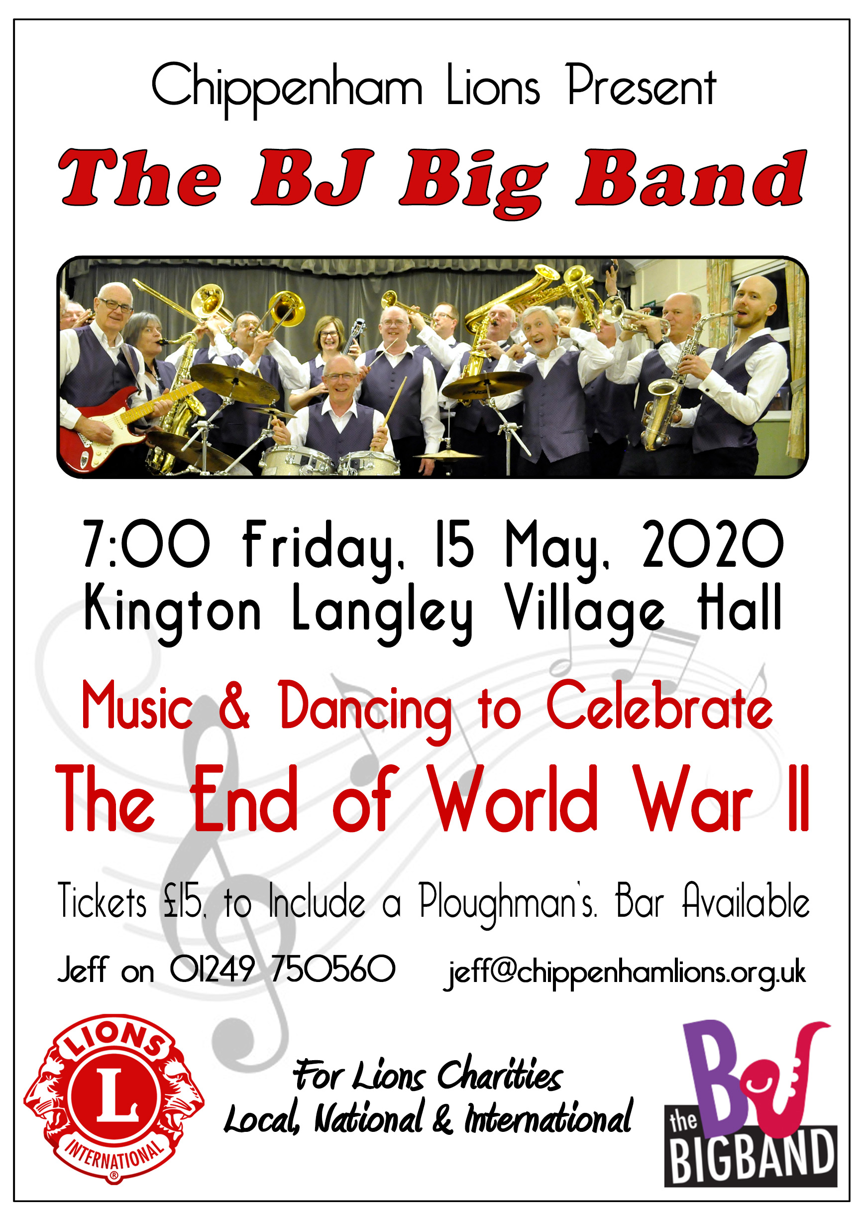 Big Band Event to Celebrate 75 Years Since the End of WWII