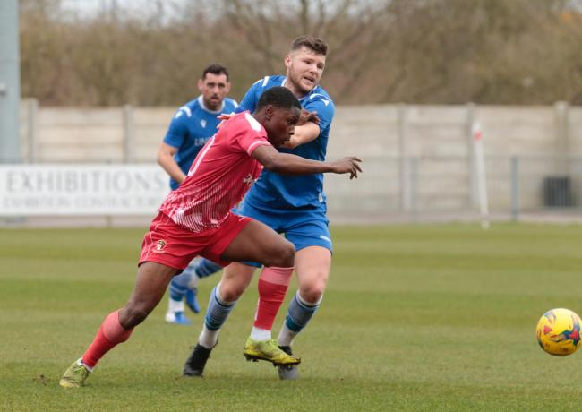 Swindon Supermarine left Hayes & Yeading United with nothing to show for their efforts after a 1-0 defeat in Premier South                                                                                    Picture: Jeff Youd