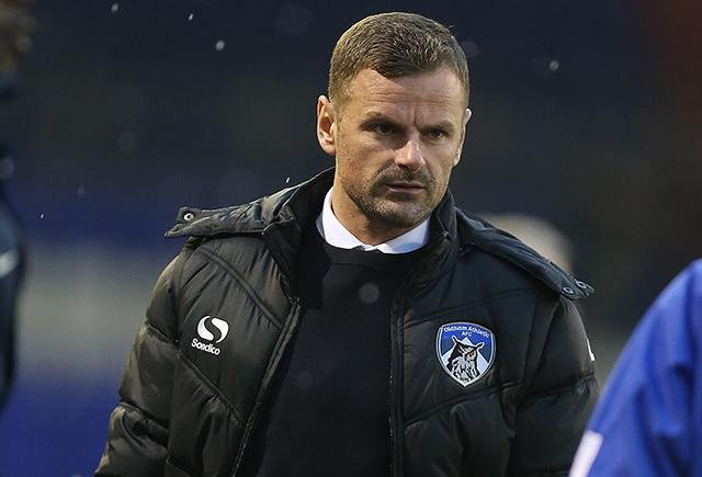 OLDHAM, ENGLAND - DECEMBER 09:  Oldham Athletic manager Richie Wellens looks on during the Sky Bet League One match between Oldham Athletic and Northampton Town at Boundary Park on December 9, 2017 in Oldham, England.  (Photo by Pete Norton/Getty Images).