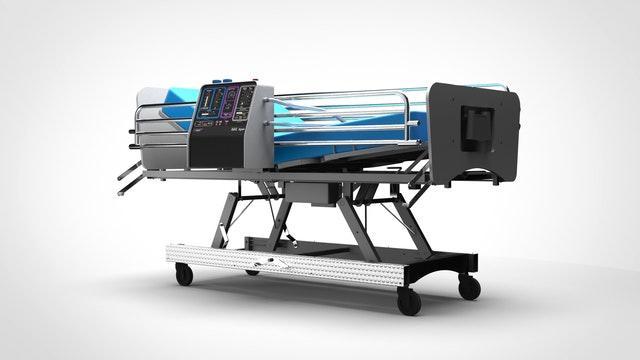 The ventilator had to be bed mounted and suitable for settings including field hospitals and during patient transportation (Dyson/PA)