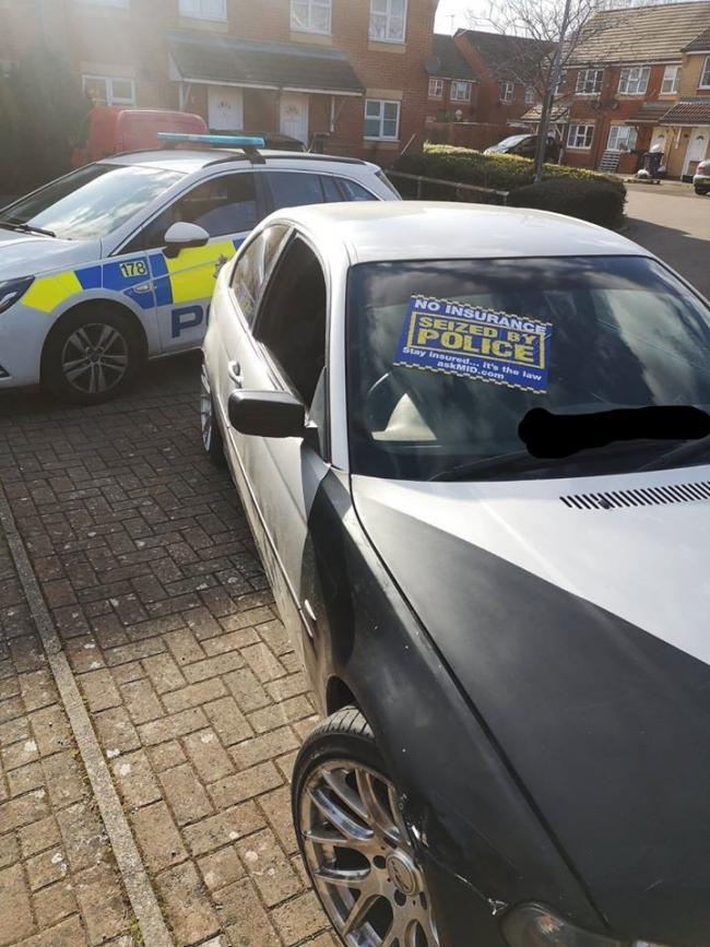 Police car called because of poorly-parked car