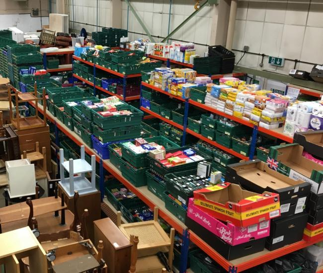 STOCK: Midcounties Co-op food bank warehouse. Picture: Midcounties Co-op