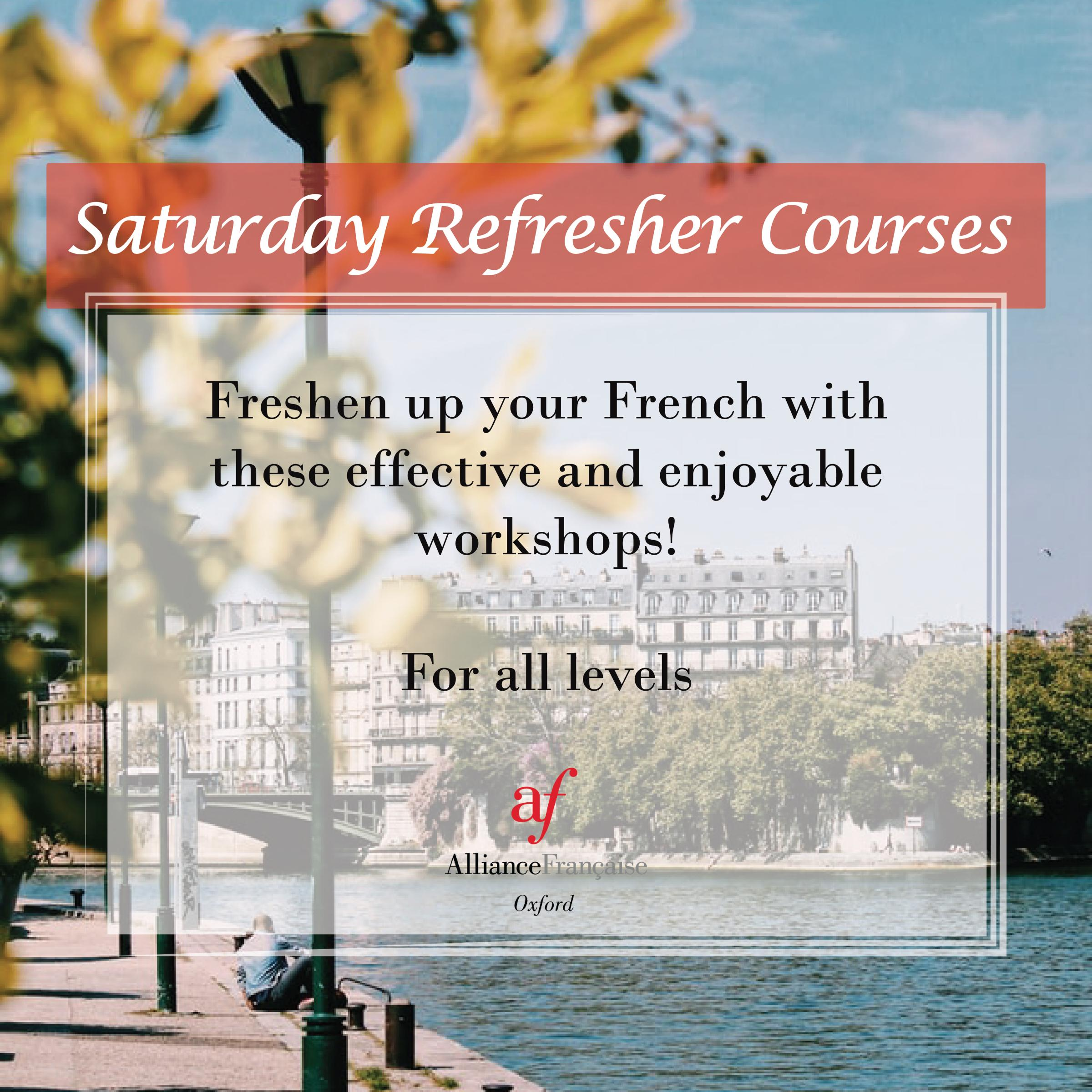 Online Saturday Refresher Course - freshen up your French