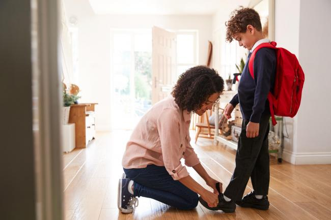A generic photo of a child's first day at school. See PA Feature HOMES Happy Homes. Picture credit should read: iStock/PA. WARNING: This picture must only be used to accompany PA Feature HOMES Happy Homes..
