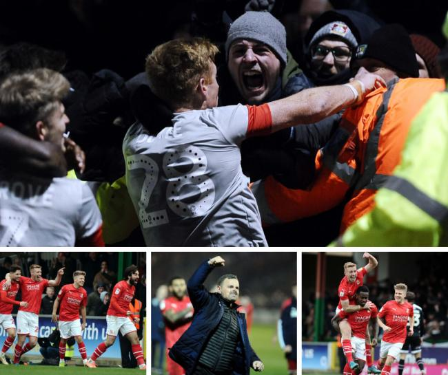 Fans and players react as Swindon Town all-but win League Two