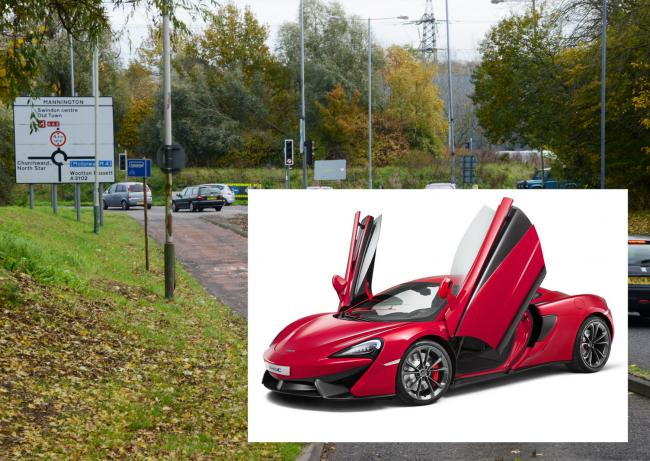 A McLaren supercar similar to this one was caught at 107mph on Great Western Way