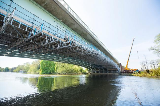 The M4 bridge that is being widened Picture: HIGHWAYS ENGLAND