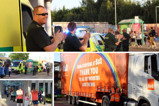 B&Q sent this amazing lorry to Swindon hospital for what could be the final Clap for Carers