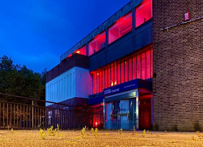 Wyvern theatre turns red