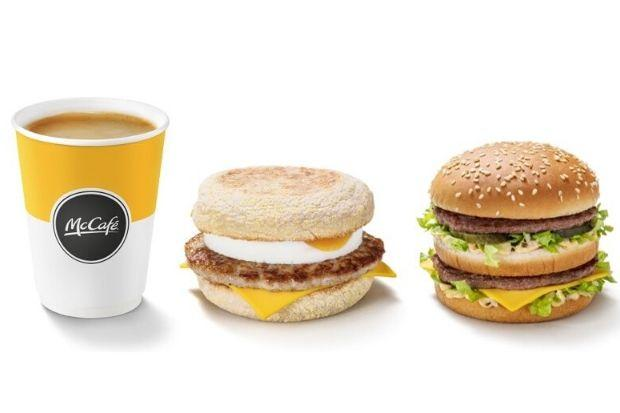McDonald's slashes prices of breakfast menu and meal bundles following VAT cut. Picture: McDonald's