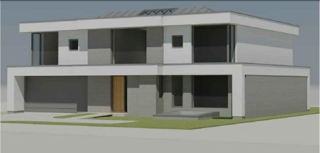 The approved house for 70 Westlecot Road