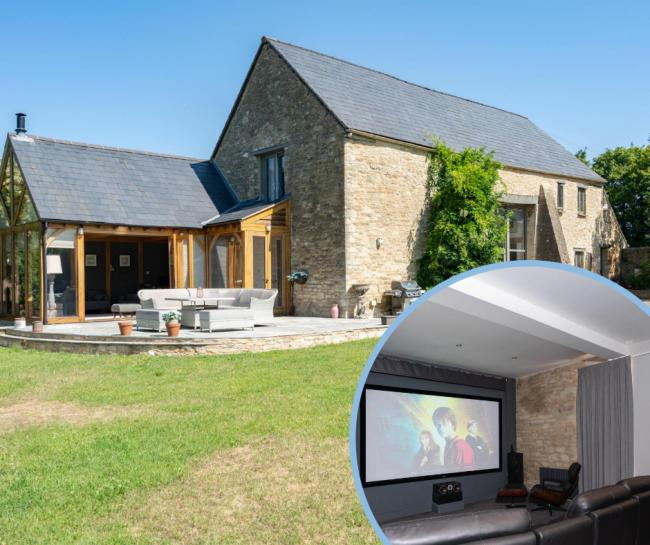 £1 million home just outside Swindon comes with personal cinema