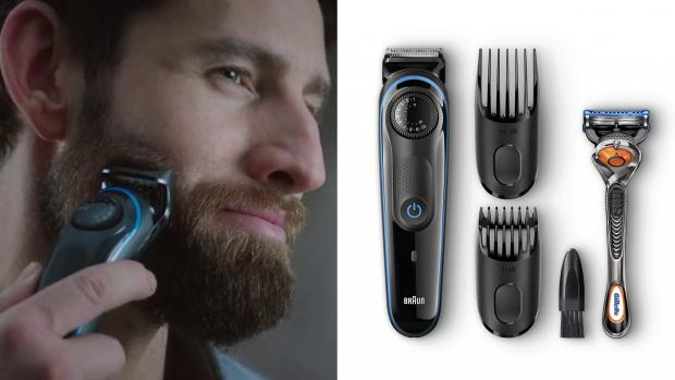 Swindon Advertiser: This Braun trimmer comes with a variety of accessories to help you clean your edges perfectly. Credit: Braun