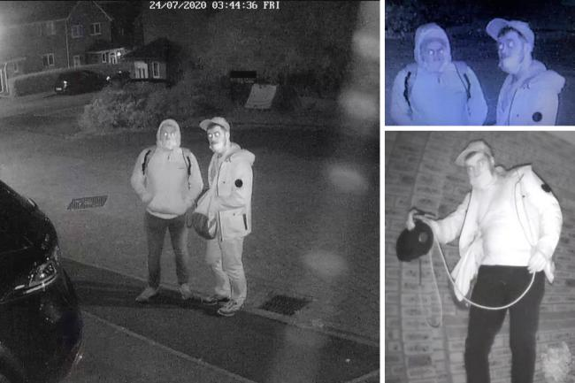CCTV showed men suspected of being linked to car thefts in north Swindon Picture: WILTSHIRE POLICE
