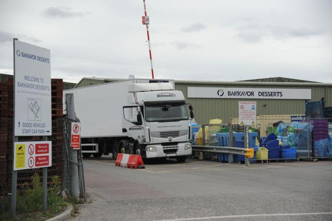 Bakkavor suspect Coronavirus The factory at Hopton Industrial estate with a lorry leaving Photo Trevor Porter 67012 1