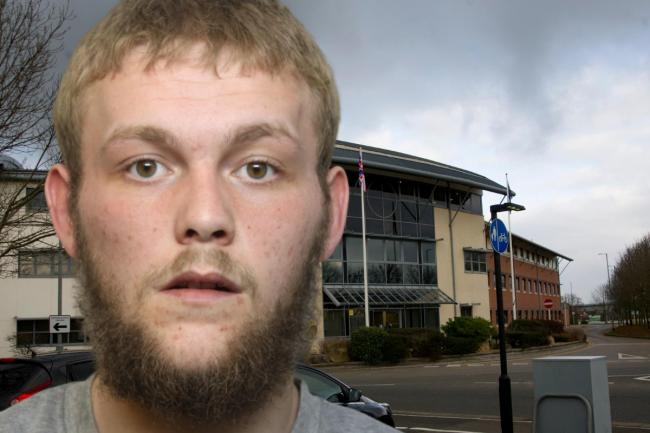 Composite picture: Gablecross police station, inset: Lee Mapstone