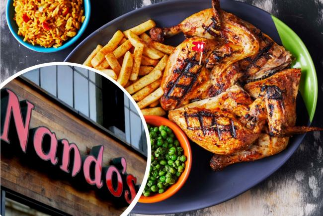 Nando's have temporarily scrapped fees on online orders. Pictures: Nandos/PA Wire