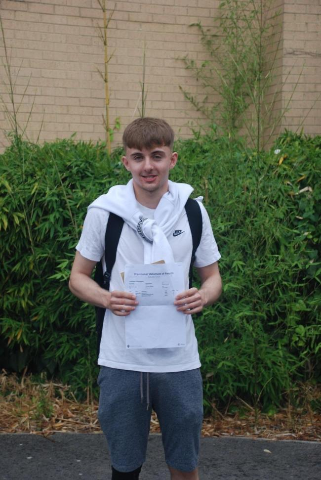 Callum Battocchio from Lydiard Park Academy achieved A*AAA*