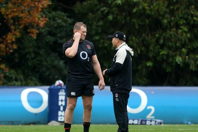Dylan Hartley, left, says the World Cup news he did not want to hear was brutally delivered by Eddie Jones, right