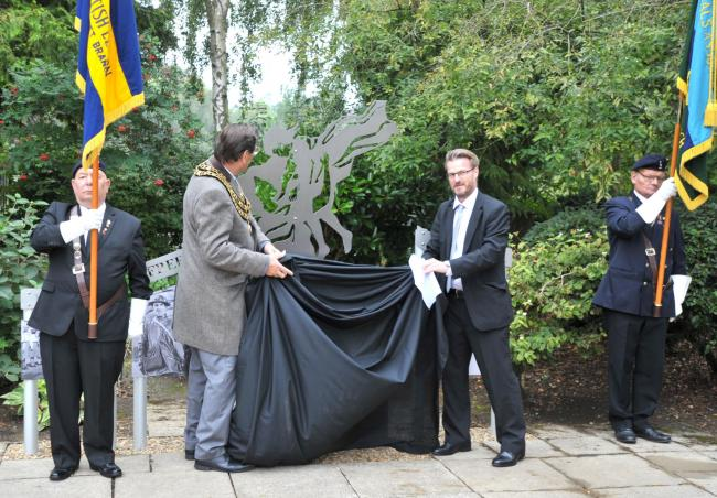 The VJ Day memorial is unveiled Picture: DAVE COX