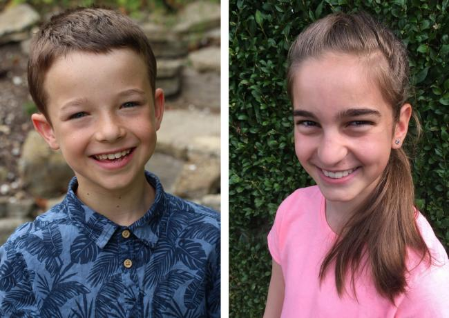 Summer Shorties story competition winners Josiah Massey and Deya Piperkova
