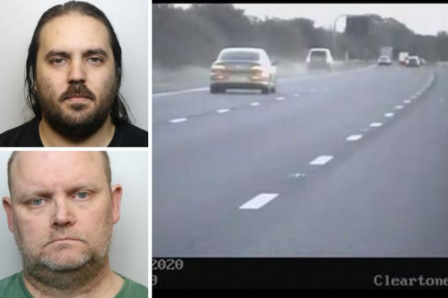 Clockwise from top left: Dean Clark; dash cam footage shows Jawad Ali's Range Rover (middle);  Mathew Carlsson Pictures: WILTSHIRE POLICE