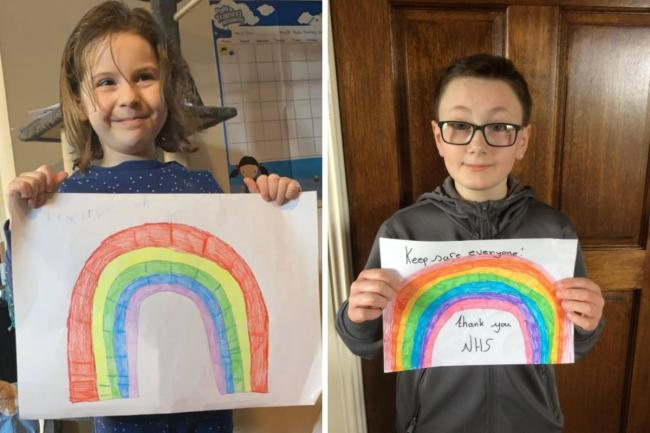 Lockdown in Swindon saw children draw rainbows for the NHS (Credit: Emma Pointing / Tiernan)