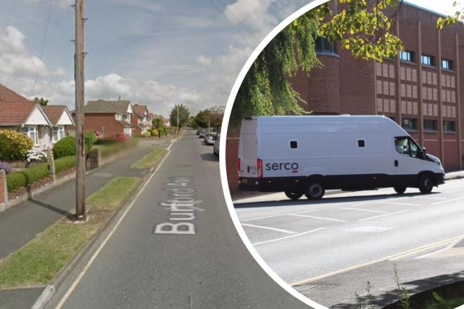 Burford Avenue; a prison van leaves Swindon Magistrates' Court Pictures: GOOGLE/ADVER