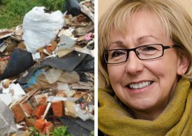 Coun Bridget Wayman thanked the member of the public for reporting the fly-tipping incident