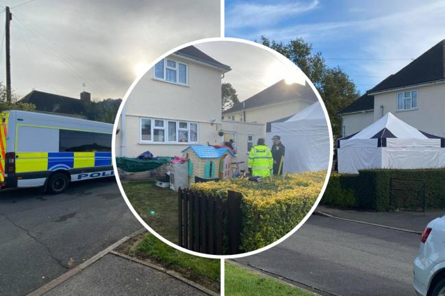 MURDER PROBE: Police search teams still at house in Cirencester