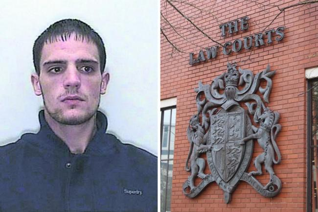 Shane Bishop's custody shot in 2013 Picture: WILTSHIRE POLICE