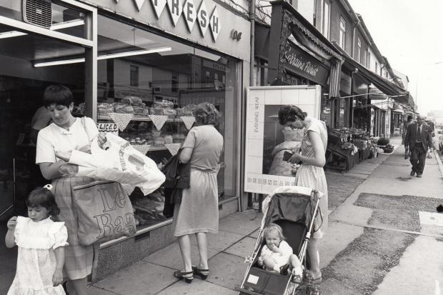 Shopping in bustling Gorse Hill