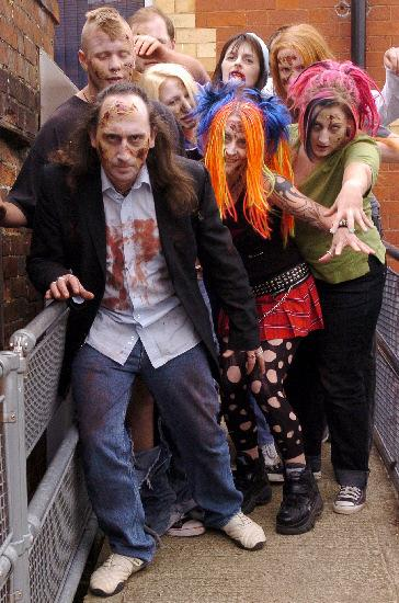 Local people became the undead for the comedy horror film Afternoon of the Rat Faced Zombies