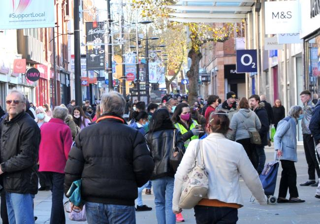 Shoppers will return to the town centre today. Picture: DAVE COX