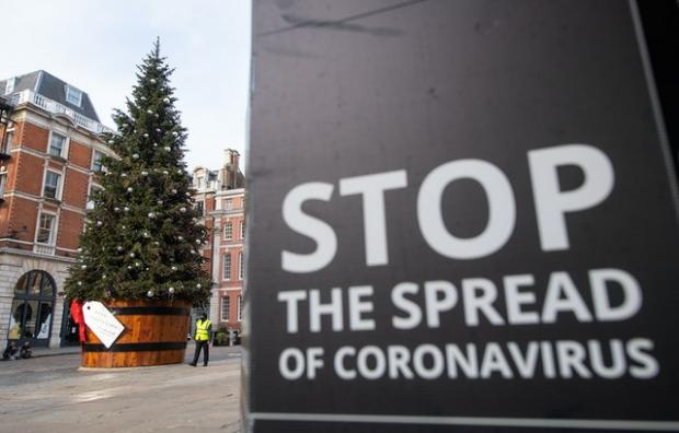 Swindon Advertiser: A Christmas tree in Covent Garden, London (Dominic Lipinski/PA)