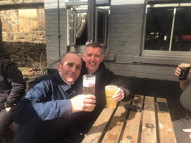 Swindon Advertiser: Andy and his friend Tony