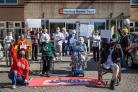 Residents at Herbert Harvey Court join ACORN campaign to reverse full-time warden cuts Photo: ACORN Swindon