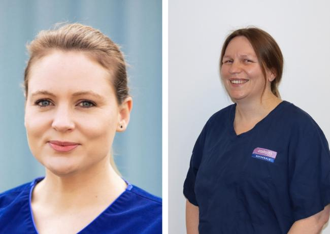 Emma Pudge and Tamsin Williams join Eastcott Vets Veterinary Referrals' emergency and critical care team