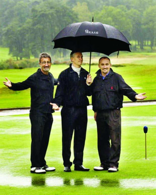 Eddie Jordan with Gary Lineker and Barry McGuigan