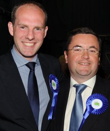 Swindon's two new conservative MP's Justin Tomlinson and Robert Buckland.