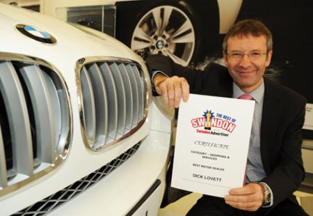 The Best Of Swindon Advertiser Awards - Motor Dealer, Dick Lovett
